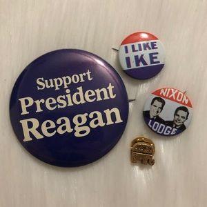 Vintage Republican Pins